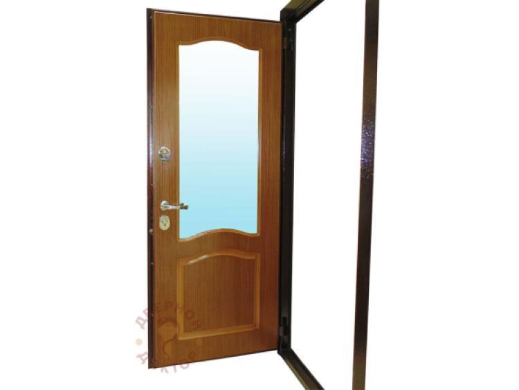 Шпонированная декоративная панель с зеркалом