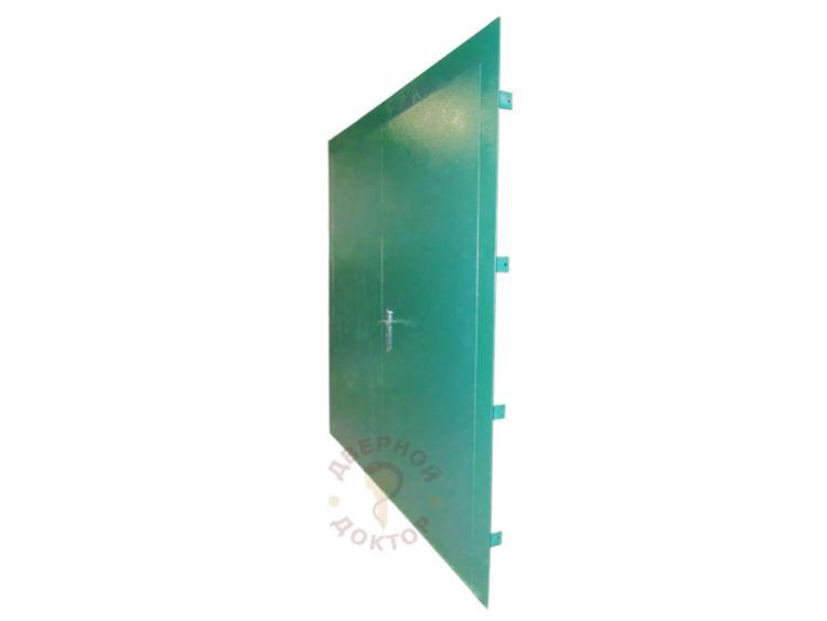 стальная дверь с двумя широкими створками