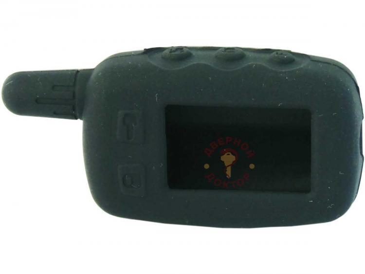 Чёрный силиконовый брелок сигнализации