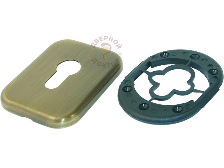 Прямоугольная декоративная накладка бронза