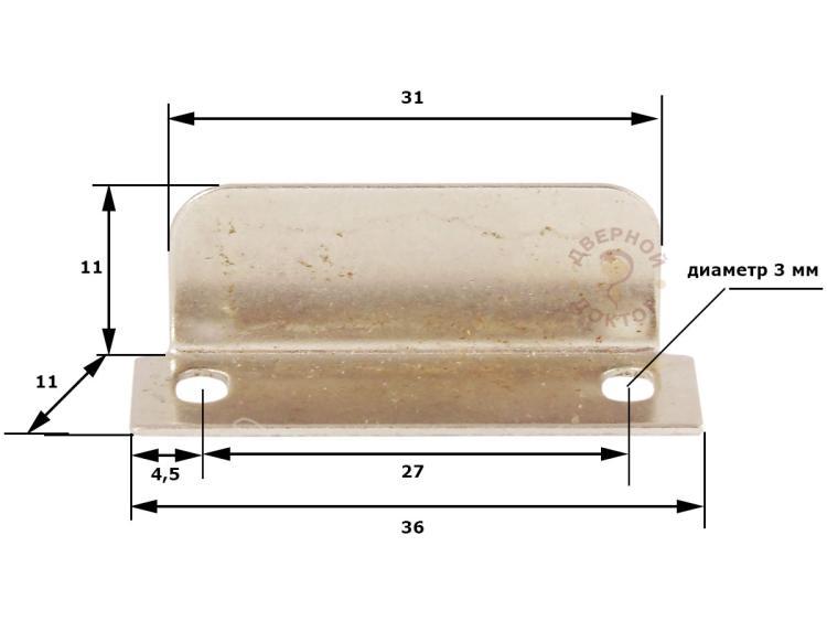 Размеры мебельной ответной планки
