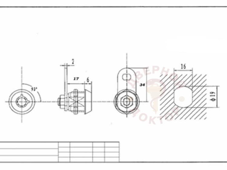 Размеры замка Тубуляр-17