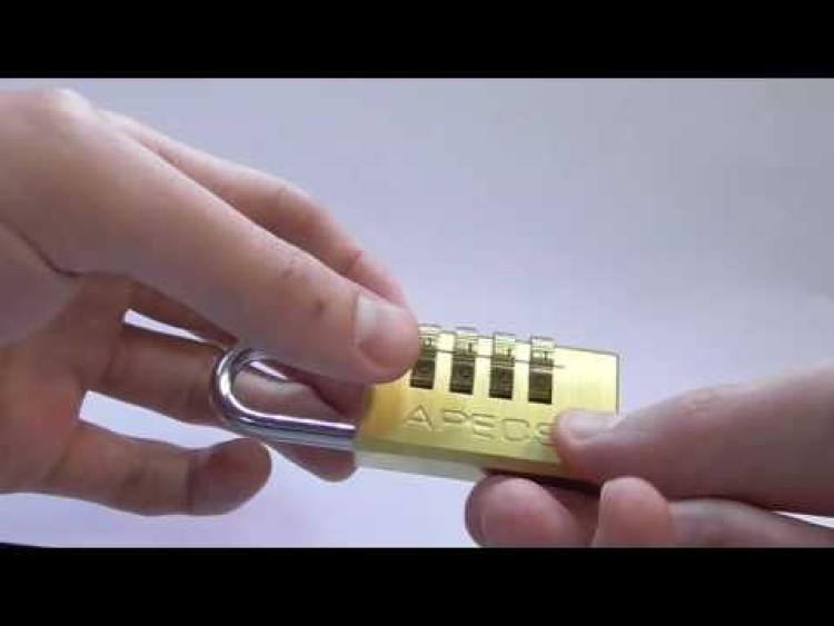 Embedded thumbnail for Замок навесной кодовый PL-3521
