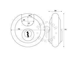 ABUS Discus 24lB/70 размеры