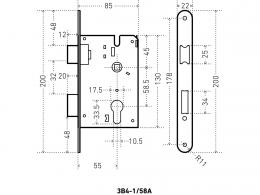 Аллюр 4-1/58А размеры