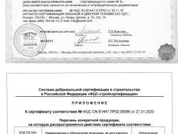 Apecs 1900-ZN сертификат