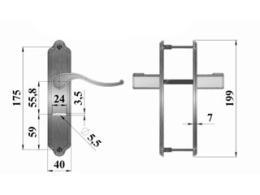 ручка с планкой герион размеры