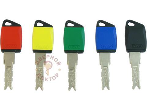 EVVA 3KS ключи с пластиковой головкой