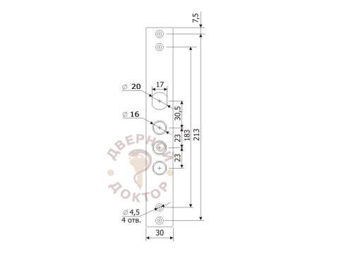 Планка Гардиан 30.11 размеры