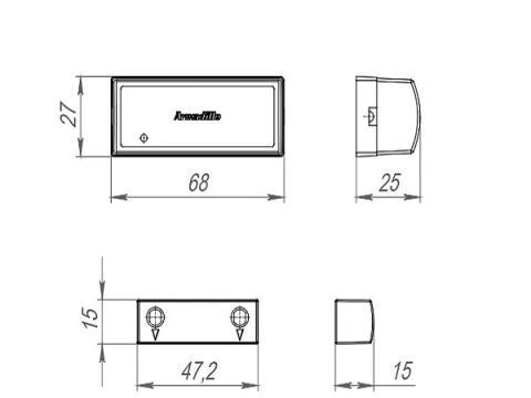 размеры датчика автозакрывания