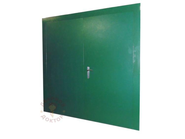 Дверь металлическая с двумя створками