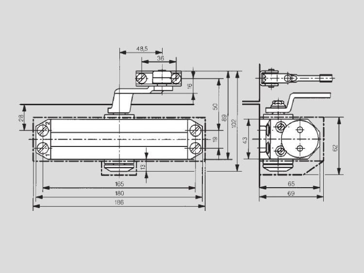 Dorma TS-77/3 размеры