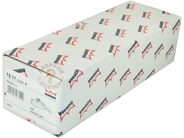 Упаковка доводчика Dorma белый