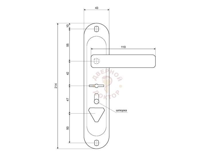 HP-42.0123-S-C-CR размеры